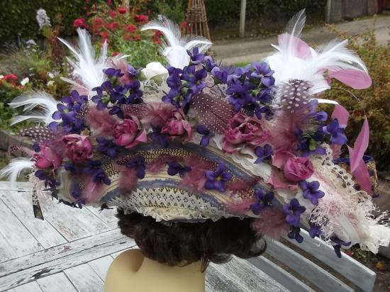 Capeline venise aux violettes 006